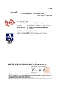 Hachiyoo JISQ9100-2016 Certificate-Appendix (BSKA0281) -001